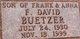 "Franklin David ""Bud"" Buetzer"