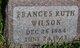 Frances Ruth <I>Reeves</I> Wilson