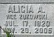 Profile photo:  Alicia A <I>Zukowski</I> Adamski