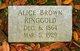Profile photo:  Alice Elsie <I>Brown</I> Ringgold