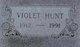 Violet Viola <I>Anderson</I> Hunt