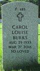 Profile photo:  Carol Louise Burks