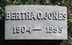Bertha <I>Owens</I> Jones