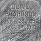 Profile photo:  Olive Boardson