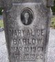 Profile photo:  Mary Alice Barlow