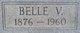 "Profile photo:  Isabelle Virginia ""Belle"" <I>Wildman</I> Adams"