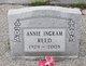Profile photo:  Annie L. <I>Ingram</I> Reed