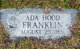 Profile photo:  Ada Hood Franklin