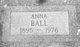Profile photo:  Anna Ball