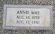 Profile photo:  Annie Mae McKinley