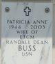 Patricia Anne <I>Edgehille</I> Buss