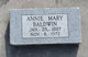 Profile photo:  Annie Mary Baldwin