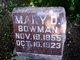 Profile photo:  Mary Amanda <I>Dale</I> Bowman