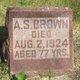 Profile photo:  A S Brown