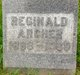 Profile photo:  Reginald Archer