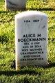 Profile photo:  Alice Marie Boeckmann