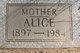 Profile photo:  Alice <I>Mott</I> Moffitt