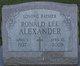 Profile photo:  Ronald Lee Alexander