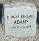Profile photo:  Thomas Benjamin Adams