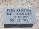 Elda Kristina <I>Dahl</I> Adolfson