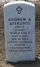 "Profile photo:  Andrew A. ""Fred"" Affrunti"