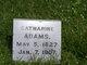 Profile photo:  Catharine <I>Tillery</I> Adams