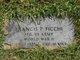 Profile photo: PFC Francis P. Ficchi