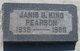 Janis Gayle <I>King</I> Pearson