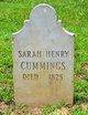 Sarah <I>Henry</I> Cummings