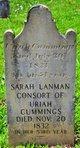Sarah <I>Lanman</I> Cummings
