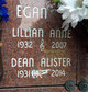 Profile photo:  Lillian Anne Egan