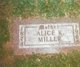 Alice Kate <I>Vochatzer</I> Miller