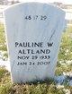 "Profile photo:  Pauline W ""Polly"" Altland"