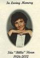 """Ida Belle """"Billie"""" <I>Stailey</I> Sloan"""