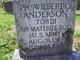 Wilbert C Anderson