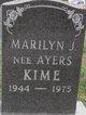 "Profile photo:  Marilyn ""Kime"" Ayers"
