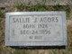 Profile photo:  Sallie J. Acors