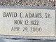 Profile photo:  David C Adams, Sr
