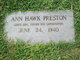 Ann Hawk Preston