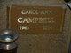 Profile photo:  Carol Ann Campbell