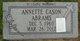 """Profile photo:  Annette """"Bert"""" Abrams"""
