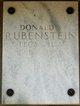 Donald S Rubenstein