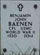 Benjamin John Baenen