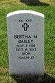 Profile photo:  Bertha M Bailey