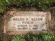 """Helen Elizabeth """"Hunnah"""" <I>Miller</I> Allen"""