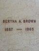 Bertha A Brown