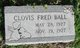 Profile photo:  Clovis Fred Ball