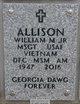 MSGT William McKinley Allison, Jr