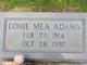 Lonie Mea Adams