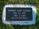 Profile photo:  Donna Ann Adams